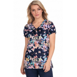 Blusa médica Bridgette - Coming Up Roses de koi ( Copy )